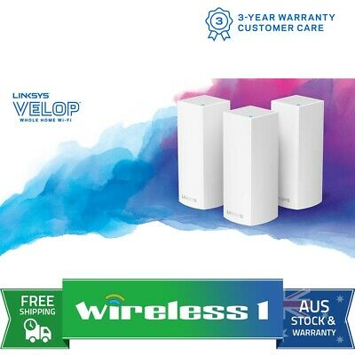 Linksys WHW0303-AU Velop Whole Home Mesh Wi-Fi System 3 Pack