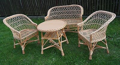 Garden Furniture Set Chairs Sofa Table Outdoor Patio Conservatory Wicker Natural