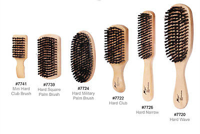 Hard Or Soft Plastic And Boar Bristles Wodden Brushes Palm,narrow,military,club