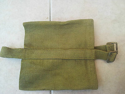 ORIGINAL P37 WWII BRITISH ARMY WATER BOTTLE or CANTEEN COVER & STRAP