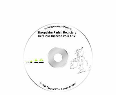 Shropshire Parish Registers Hereford Diocese Vols 1-17