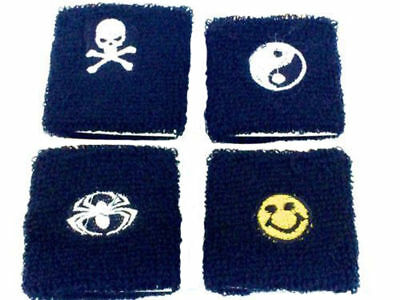 One Boys Sweatband Wristband Crossbones smiley Face Emoji Party Bag Loot Fillers