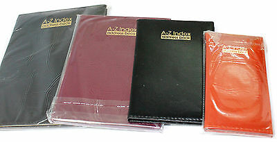 New A-Z Index Address Book Home Office Telephone Executive Pocket Index Leather