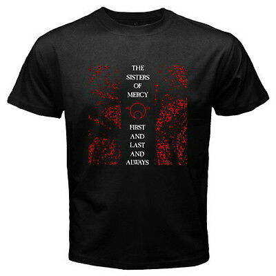 New The Sisters of Mercy First and Last and Always Mens Black T-Shirt Size S-3XL