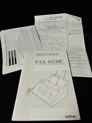 Brother Owner's Manual for Fax 855 MC