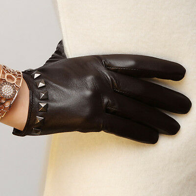 Ladies Woman Genuine Nappa Leather Low Cut Driving Gloves More Color On Sale #96