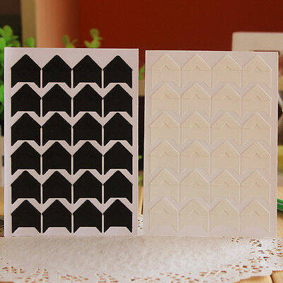 New 24 Pcs Retro Kraft Corner Stickers Picture Handmade Album Photo Good DIY Hot