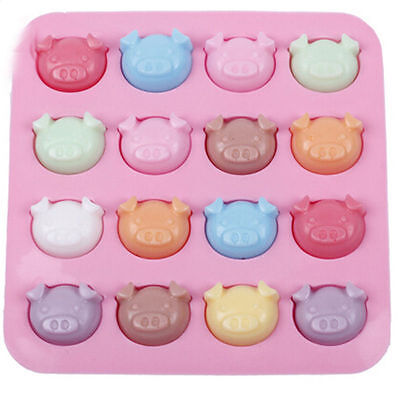 16 Cute Little Piggies Pigs Oink Chocolate Cake Topper Silicone Baking Mould