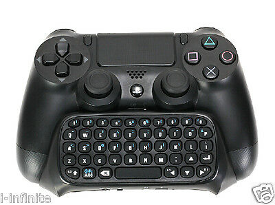 New Bluetooth Mini Keyboard Keypad For Sony Playstation 4 PS4 Controller Black