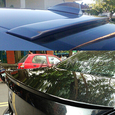 Painted BMW 3-Series E90 4D A Roof Wing & M3 Rear Boot Trunk Lip Spoiler 330i