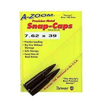 New Authentic A-Zoom Safety Training Aluminium Snap Caps 762X39 2 Pack 12234