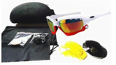 Jawbone Cycling Glasses Racing Jacket Sport Sunglasses 3 pairs Lenses