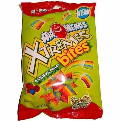 Airheads Xtremes Bites Rainbow Berry Flavor Sour Chewy Candy 6oz Bag