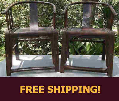 Rare Early 19th Century Carved Chinese Traditional Chairs