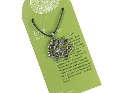 Celtic Dragon Pendant with Cord Necklace #NI-EIR551