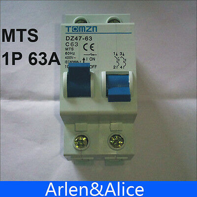 1P 63A MTS Manual transfer switch Circuit breaker MCB 50HZ/60HZ 400~