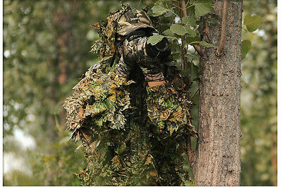 Sale 3D Leaf Camo Ghillie Suit for Outdoor Sniper Paintball Bowhunting Hunting
