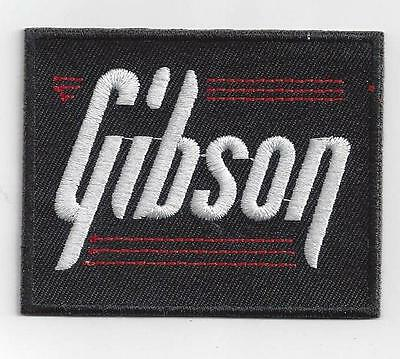 GIBSON GUITAR MUSIC  IRON ON PATCH  buy 2 of these get 1 free = 3 of these.