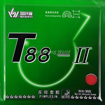 Sanwei T88- II   Pips-in Table Tennis / Ping Pong Rubber with Sponge,NEW
