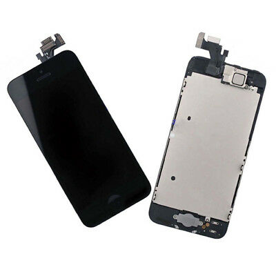 iPhone 5 Black LCD Digitizer Screen Replacement Home Button & Camera Free Tools