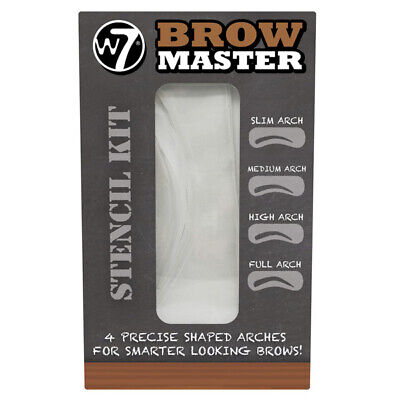 W7 Cosmetics - Master Eyebrow Stencil Kit Shaping Defining 4 Arch Templates