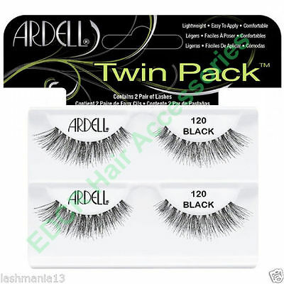 "Ardell Natural Eyelash 120 Black TWIN PACK""""Contain 2 Pairs Of Lashes THE BEST"