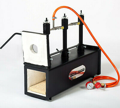 DFPROF3+2D Gas Propane Forge for Knifemaking Farriers Blacksmiths Furnace Burner