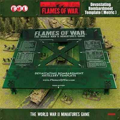 FoW-AT004M - FLAMES of WAR: Green Devastating Bombardment Template (Metric)
