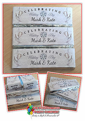 Personalised Wedding Day Chocolate KitKat Party Table Favours Gift Supplies N17