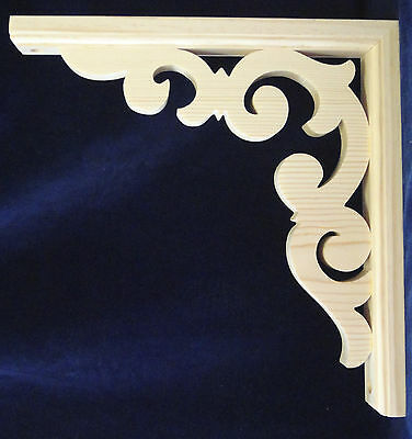 L&G Victorian Gingerbread Fretwork Porch Trim Bracket 10 x 10 inch