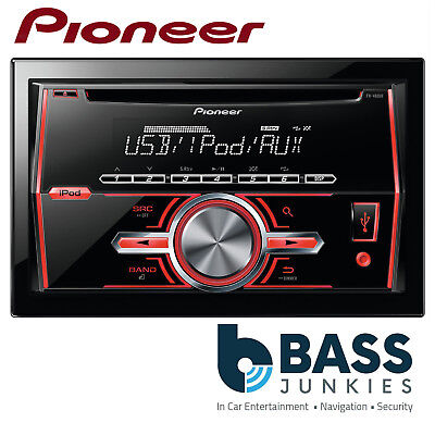 Pioneer FH-460UI Double Din USB CD MP3 AUX Car Stereo Radio Player Red Display