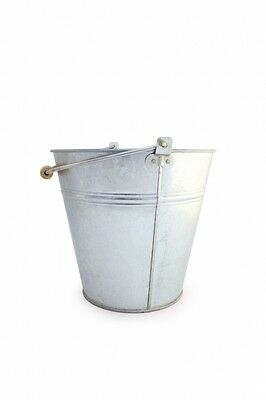 Galvanised industrial heavy duty 12lt metal bucket water farm stable 1,3,5 deal