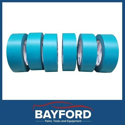 "High Temperature Masking Tape 1.5"" 36Mmx 6 Rolls Blue Automotive Spray Painting"