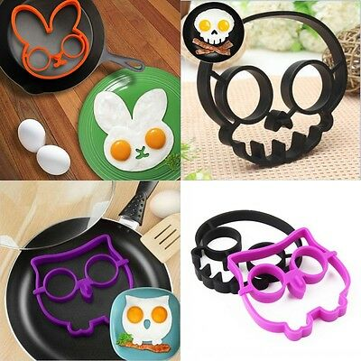 Breakfast Silicone Skull Owl Egg Fried Mould Shaper Ring Kitchen Cooking Tools