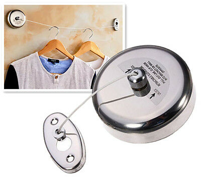Bedroom Bathroom Hotel 2.5m Stainless Steel Retractable Clotheslines String Mo