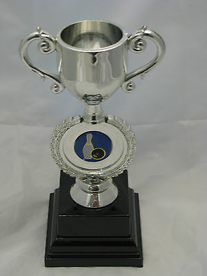 Tenpin Bowling Trophy Silver Cup 165mm Engraved FREE
