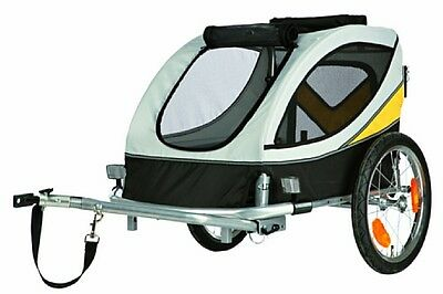 NEW TRIXIE Dog Bicycle Trailer GREY MEDIUM