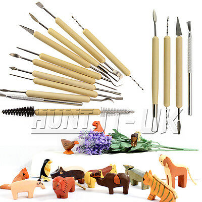 11pcs Polymer Clay Sculpting Tool Set Wood Models Art Projects Pottery Tools Kit