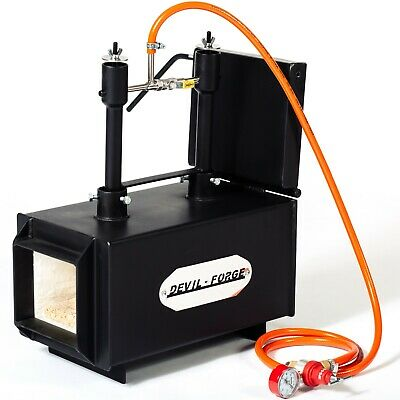 """DFPROF2+1D 2"""" Gas Propane Forge for Knifemaking Farriers Blacksmiths Furnace"""