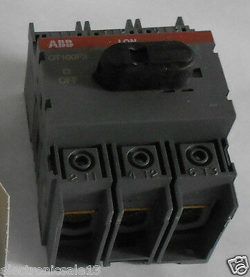 Abb Disconnect Switch Ot100F3, 100A 3 Hase, 1Sca105004R1001