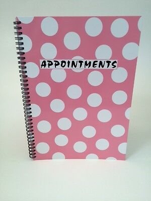 4 Column Appointment Book - Salons, Spas, Health Clubs, Clinics etc (Pink Polka)