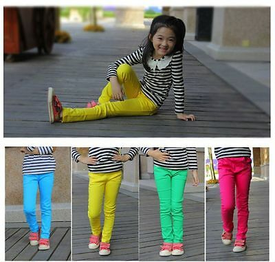 Baby's Girls Candy colour Pants children skinny trousers legging