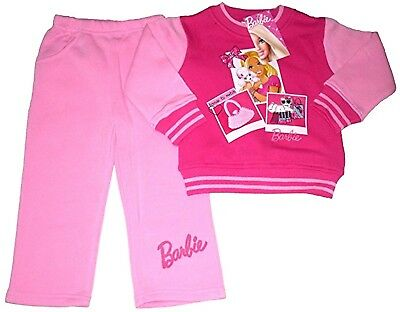 Disney Girls Princess BARBIE TrackSuit Sweat Top+Trouser Outfit Sets 2,4,6,8,YRS