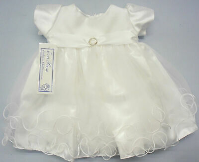 Baby Babies Girl Girls Occasional Dress Party Formal Christening Wedding White