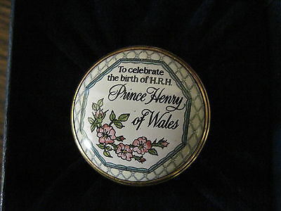 "Halcyon enamels...Prince Henry of Wales birth, 1.25""round."