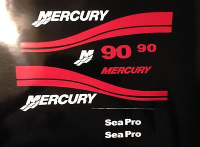 Mercury Outboard Decal kit  25 - 250 HP Mercury Seapro Marine vinyl