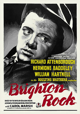 Brighton Rock 1940s British Delinquent Vintage Movie Poster Richard Attenborough