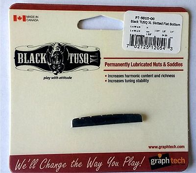 GRAPHTECH BLACK TUSQ XL SLOTTED NUT for STRAT & TELE  WITH FLAT BOTTOM PT-5010-0