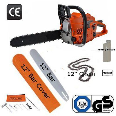 """12"""" Petrol Chainsaw 53cc Brand New Complete With Chain, Bar and More"""
