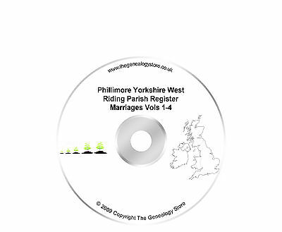 Phillimore Yorkshire West Riding Parish Register Marriages Vols 1-4